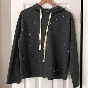 Zara Pearl Hooded Sweater